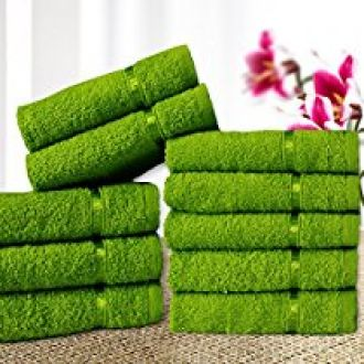 Story@Home 100% Cotton Soft Towel Set of 10 Pieces, 450 GSM - 10 Face Towels - Green for Rs. 279