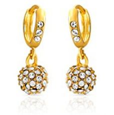 Buy Mahi Eita Collection Gold Plated Crystal Stones Dangle & Drop Earrings For Women-ER1100229G from Amazon