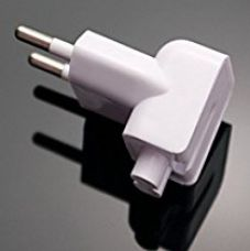 Indian Style/EU Plug Adapter Duck Head for Power Adapters of Apple Macbook,Powerbook, Pro, Air, iPod, iPhone, iPad, iBook for Rs. 289