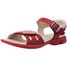 Buy Clarks Girl's Hazy Rise Inf Red Leather Fashion Sandals - 10.5 kids UK/India (28.5 EU) from Amazon