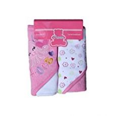 Owen Knit Hooded Towel, 2 Piece (Pink) for Rs. 640