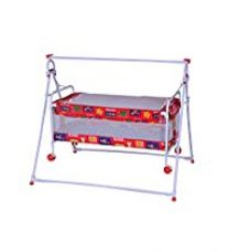 Buy Mothertouch Baby Cradle Cum Cot (Red) from Amazon