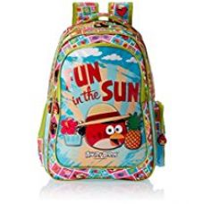 Buy Angry Birds Polyester 30.5 cms Green Children's Backpack (EI - AB0077) from Amazon