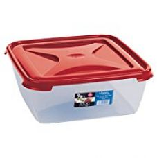 Buy Wham Cuisine Large Square Food Storage Plastic Box Container, 10 Litre, Red from Amazon