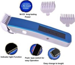 Kemei KM-3005 A Professional Trimmer For Men  (Blue) for Rs. 329