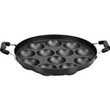Buy Tosaa 12 Cavity Appam Patra Side Handle without Lid, Black from Amazon