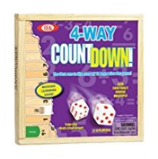 POOF-Slinky 0C241 Ideal 4-Way CountDown Wooden Mathematics Learning Game with Sliding Storage Cover for Rs. 1,299