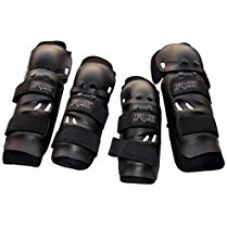 Premium Quality Fox Motorcycle Riding Knee and Elbow Guard (Black, Set of 4) for Rs. 459
