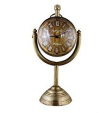 Buy Brass Metal Craft Brown Gold Color Antique look Round Dial Analog Desk table Clock For Office - 3 inch from Amazon
