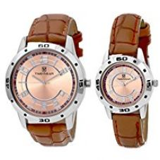 TIMEWEAR Analogue Brown Dial Men's & Women's Watch - 903Bdtcouple for Rs. 619