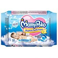 Buy Mamy Poko Pure and Soft No Fragrance Wipes (50 Sheets) from Amazon