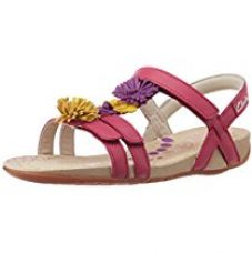 Clarks Girl's Rio Flower Berry Leather Fashion Sandals - 11.5 kids UK/India (29.5 EU) for Rs. 1,008