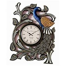 Buy RoyalsCart Peacock Handcrafted Analog Wall Clock from Amazon