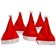 Buy Toyshine 12 Pcs Christmas Hats, Santa Claus Caps for Kids and Adults, Free Size, Xmas Caps from Amazon