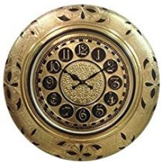 Buy RoyalsCart Golden Metal Analog Wall Clock from Amazon