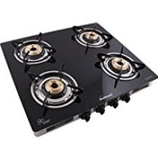 Buy Sunflame GT Regal Stainless Steel 4 Burner Gas Stove, Black from Amazon