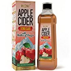 Flat 44% off on WOW Apple Cider Vinegar - 750 ml - with mother & 4% Acidity (Pack...