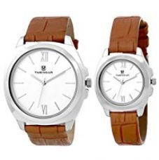 TIMEWEAR Analogue Silver Dial Men's & Women's Watch - 907Sdtcouple for Rs. 699