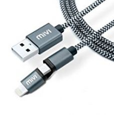 Buy Mivi 2 in 1 Apple Lighting & Micro USB to Standard Type A USB Cable 5ft Data Sync and Charging Cable for iPhone, iPad, Samsung, Lenovo, Lumia, OnePlus, Xiaomi, HTC, LG, Nexus, Motorola Moto G, ASUS, Coolpad, Sony, Micromax, Honor, Intex, Meizu, Karbonn and all other mobile devices and Tablets from Amazon