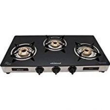 Sunflame GT Regal Stainless Steel 3 Burner Gas Stove, Black for Rs. 4,452