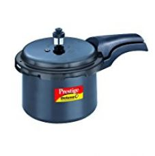 Buy Prestige Deluxe Plus Hard Anodized Outer Lid Pressure Cooker, 3 Litres, Black from Amazon
