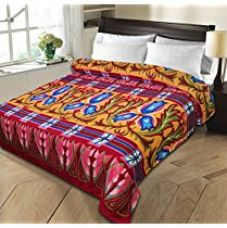 Christy's Collection Super Soft Printed Cotton Blend AC Double Blanket - Multicolor for Rs. 236