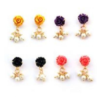 Buy Nisa Pearls Earring Combo (Design 10) from ShopClues