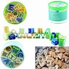 Buy A-B-C 28-Pc cutter set. Use the complete alphabet collections included to create the perfect cookie message by Kurtzy™ from Amazon