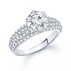 Meenaz Solitaire Ring Valentine Love Single Stone Ring In American Diamond Cz In Silver Ring For Girls & Women FR165 for Rs. 399
