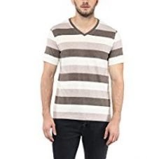 Buy American Crew Men's V-Neck Stripes T-Shirt from Amazon