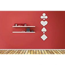 Sehaz Artworks 'Playing Cards' Wall Decal (Acrylic, 10.2 cm x 10.2 cm, Silver) for Rs. 233
