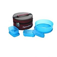 Signoraware Classic Lunch Box Set with Bag, T Blue for Rs. 380