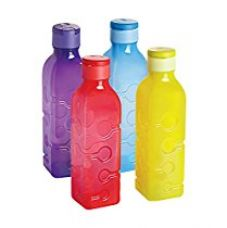 Buy Cello Tango Polypropylene Bottle Set, 1 Litre, Set of 4, Assorted from Amazon