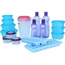 Princeware Plastic Refrigerator Jar Set, 17-Pieces, Multicolour for Rs. 720