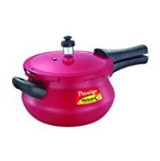 Buy Prestige Deluxe Plus Mini Junior Induction Base Aluminium Pressure Handi, 3.3 Litres, Flame Red from Amazon
