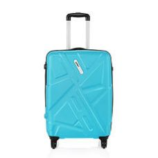 Flat 68% off on Safari Traffik-Anti Scratch Teal 4 Wheel Hard Luggage-Size Medium (Between 61 Cm-69Cm)