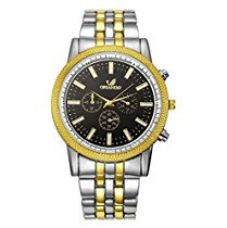 Buy Orlando Chronograph Look Analogue Black Dial Mens Watch - W1026GBXZ from Amazon