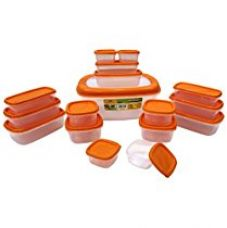 Buy Princeware SF Packing Container, 17-Pieces, Orange for Rs. 278