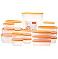 Buy Princeware SF Tal Pak Plastic Container Set, 20-Pieces, Orange from Amazon
