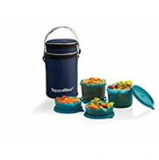 Buy Signoraware Executive Lunch Box with Bag, 15cm, T Blue from Amazon