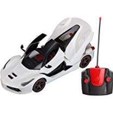 Webby Remote Controlled Super Car with Opening Doors and Dicky, White for Rs. 893