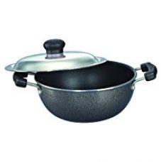 Prestige Omega Select Plus Non-Stick Flat Base Kadai with Lid, 27cm for Rs. 1,282