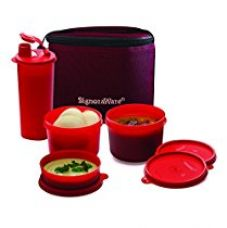 Signoraware Combo Medium Executive Lunch with Bag, Deep Red for Rs. 690