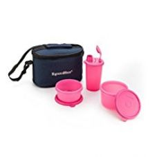 Buy Signoraware Combo Small Executive Lunch with Bag, Pink from Amazon