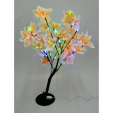 Tucasa Assorted Leaf Colours Big Flower Tree Lamp, DW-199