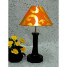 Tucasa Fashionable Wooden Table Lamp with Orange Gold Shade, LG-1003