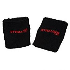 Buy Strauss Wrist Band, Pack of 2 (Black) from Amazon