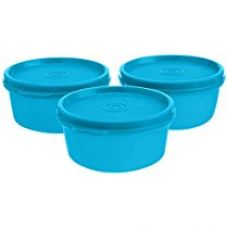 Buy Signoraware Tiny Wonder Plastic Container Set, 200ml, Set of 3, T Blue from Amazon