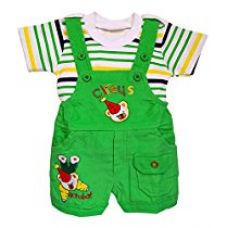 Littly Baby Dungaree Set (Green) for Rs. 554