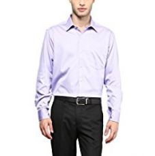 Buy American Crew Men's Full Sleeve Shirt With Pocket (Lavender) from Amazon